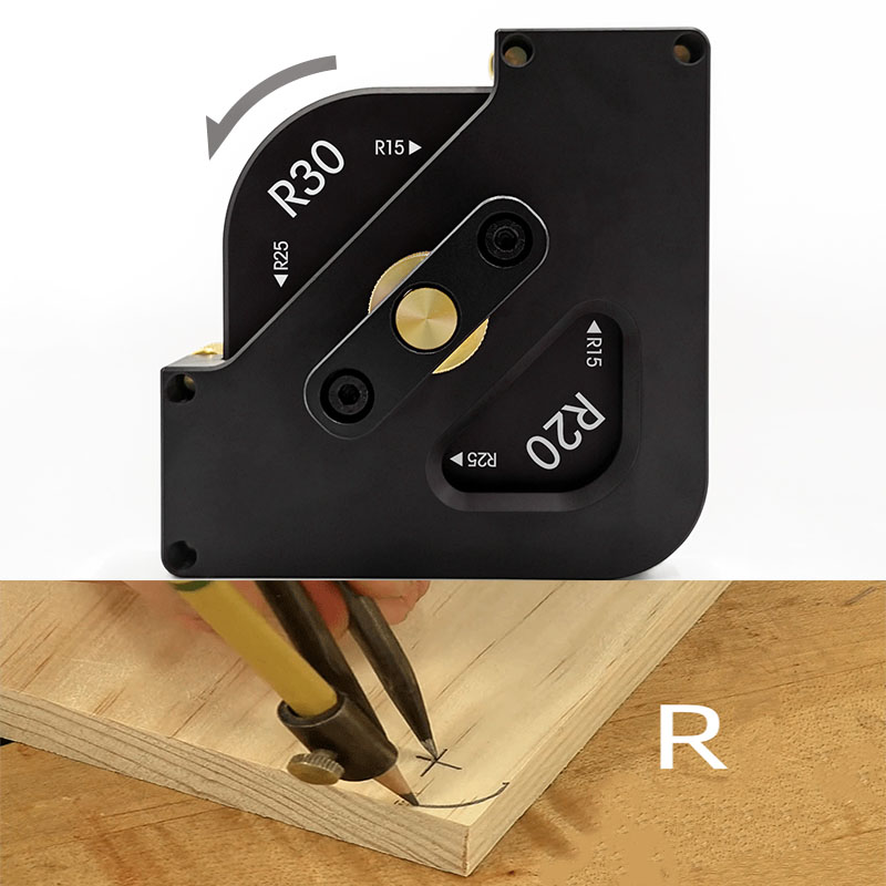Arc In Router Table Tools Angle 1 Woodworking Trimming Fillet Quick 4 Corner Jig Jig Radius Jig For Half Template Locator