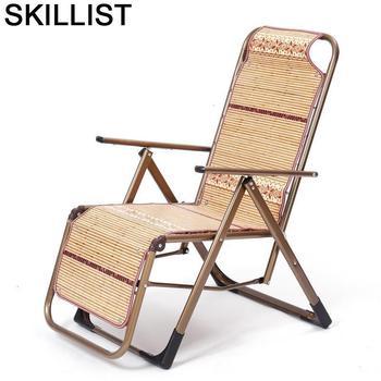 Mueble Chaise balcón Furniture Lazy Fauteuil salón Cama Plegable de bambú Sillones...
