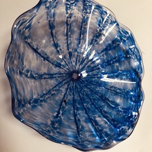 Горячая распродажа! Заводская цена ручная выдувная стеклянная настенная художественная подвесная художественная креативная стеклянная настенная тарелка