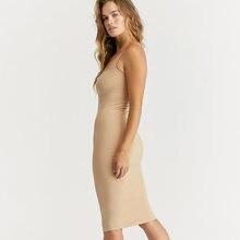 Бесшовное платье комбинация телесного цвета; Модель 2020 года;