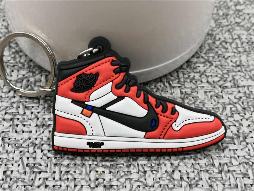 جديد الأزياء البسيطة سيليكون لطيف الهواء الأحذية المفاتيح سحر امرأة حلقة رئيسية الهدايا حذاء رياضة مفتاح حامل قلادة الاكسسوارات مفتاح سلسلة