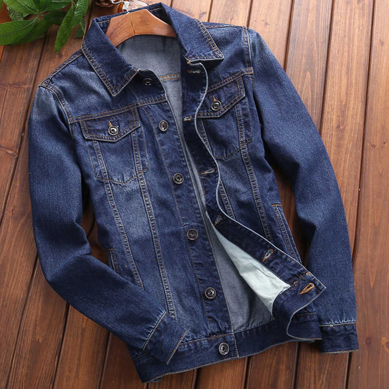 Plus rozmiar XXXXL Casual męska kurtka dżinsowa i płaszcze europejski mężczyzna płaszcze dżinsowe cienka wiosenna i letnia styl męski płaszcz A704