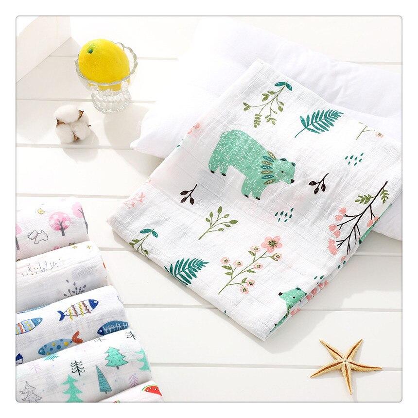 Muslin Blanket 120x110cm Newborn Blankets Bath Gauze Infant Wrap Swaddle Blanket Baby Blanket Swaddle Cotton