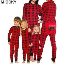 Family Matching Outfits Christmas Pajamas Set XMAS PJs Adult Kids Cute Party Nightwear Pyjamas Cartoon Deer Sleepwear E0311