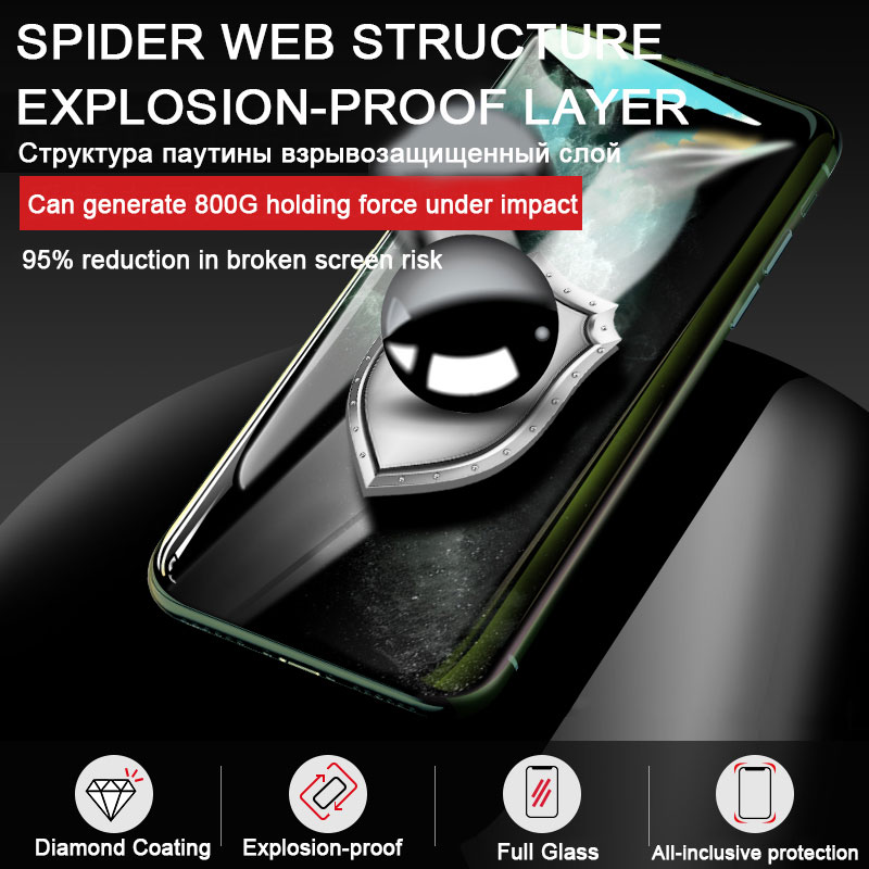 30D Full Cover Tempered Glass For iPhone 11 Pro Max Glass X XS Max XR Screen Protector Glass On For iPhone 6 6s 7 8 Plus X Film 5