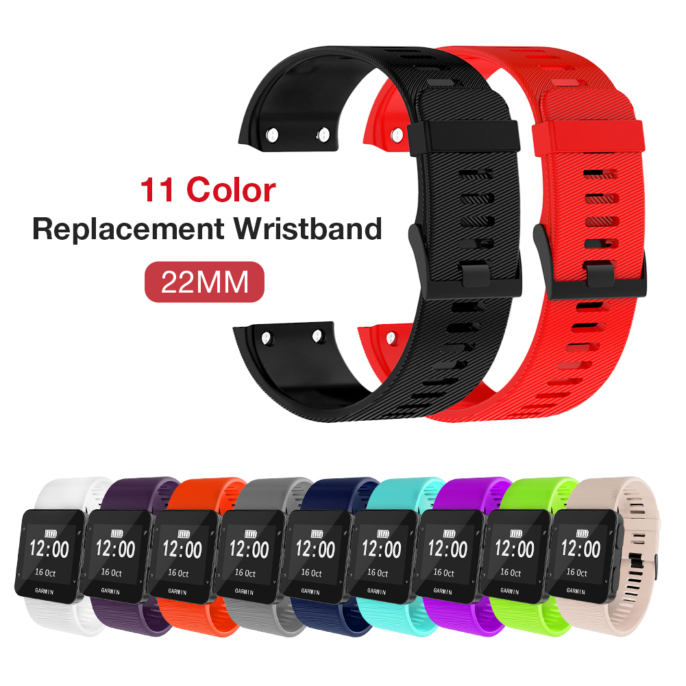 Silicone Replacement Wristband Watch Band Wrist Strap Silicagel Soft Smart Band Strap For Garmin Forerunner 30/35 Watch Strap