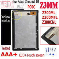 "10.1""For Asus Zenpad Z300M P00C Z301ML Z301MFL P00L Z300CNL P01T New LCD Display Touch Screen Assembly No Frame Digitizer"