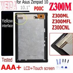 10,1 para Asus Zenpad Z300M P00C Z301ML Z301MFL P00L Z300CNL P01T nueva pantalla LCD montaje de pantalla táctil sin marco digitalizador