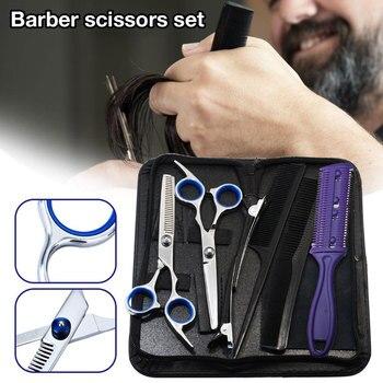 9/10/11 PCS Hair Cutting Scissors Professional Hair Scissors Tail comb Hair Cape Hair Cutter Comb Cutting Scissors Hair vivid hair 9 grade180%