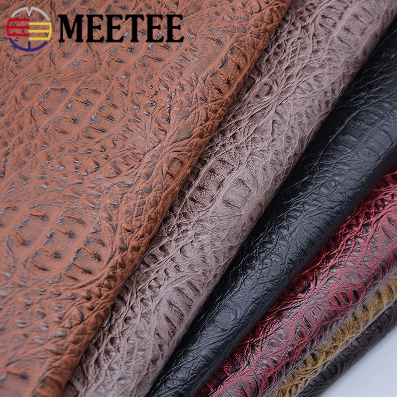 Meetee 50X69cm Crocodile PU Synthetic Leather Sofa Handbag Artificial Imitation Leather Handmade DIY Fabric Accessories AP658