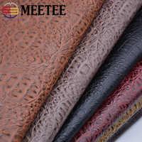 Meetee 50X69cm Crocodile PU Synthetic Leather Sofa Handbag Artificial Imitation Leather Handmade DIY Fabric Accessories AP658