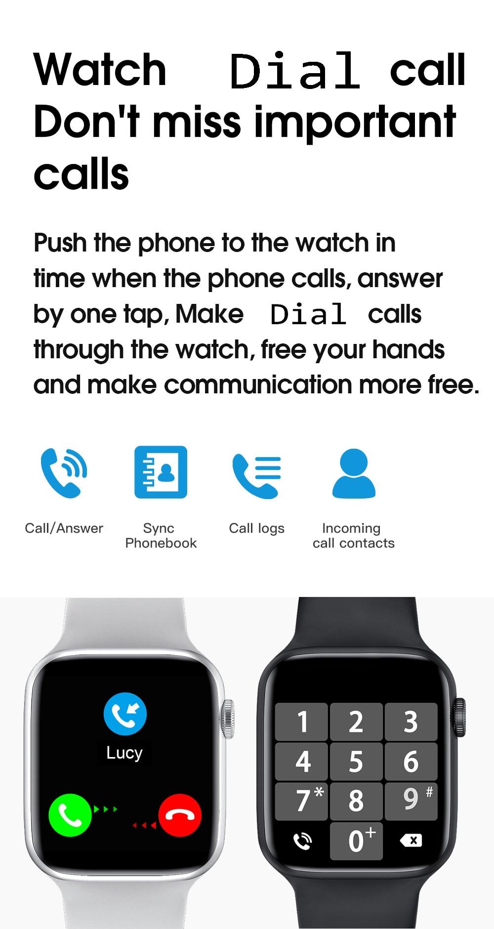 Hc16f362e287b45afa74ffde520e9f1ecq Smart Watch Men Smartwatch Women Dial Call Watch Waterproof Fitness Tracker Music Control 2021 For Iphone Xiaomi Huawei IWO+gift