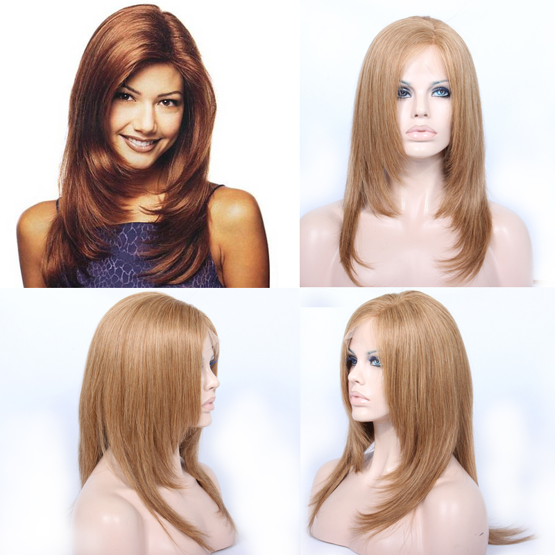 Star Style #27A Lace Front Human Hair Wigs 150% Straight Wig Brazilian 13x4 Lace Front Wig Remy Pre Plucked Glueless For Women