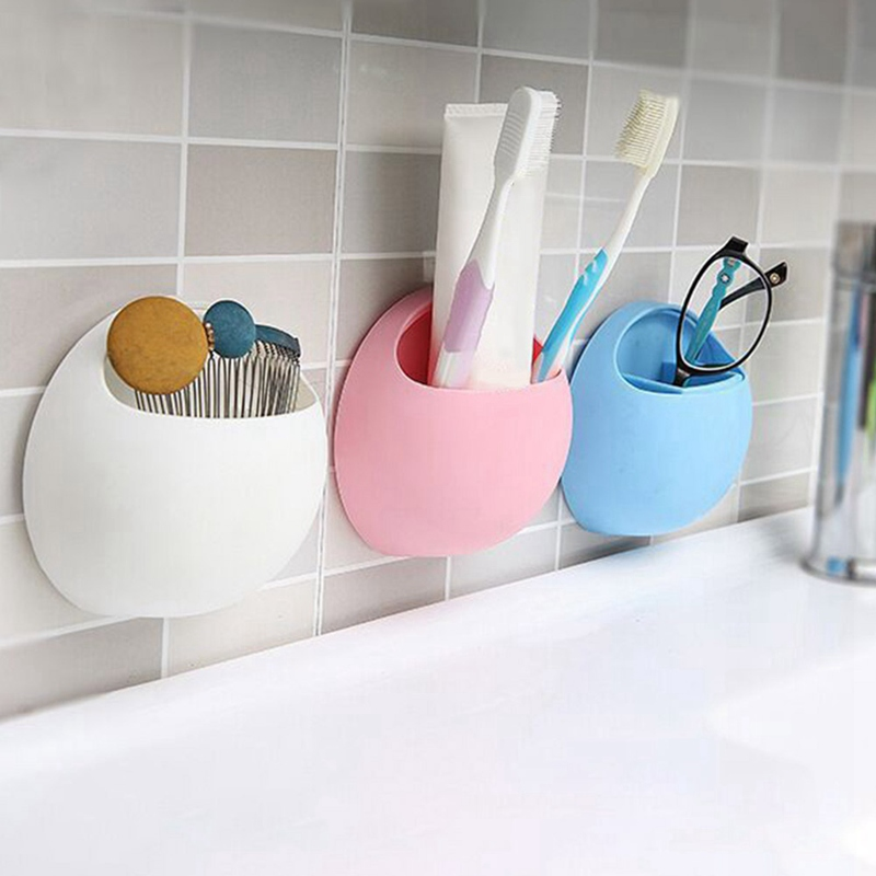 Toothbrush Holder Pen Glasses Holder Wall Suction Cups Shower Holder Cute Sucker Suction Hooks Bathroom Accessories Set image