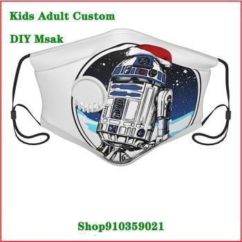 New Design Star Wars Santa R2-D2 DIY mascarilla reutilizable with an exhaust valve washable reusable face mask Casual
