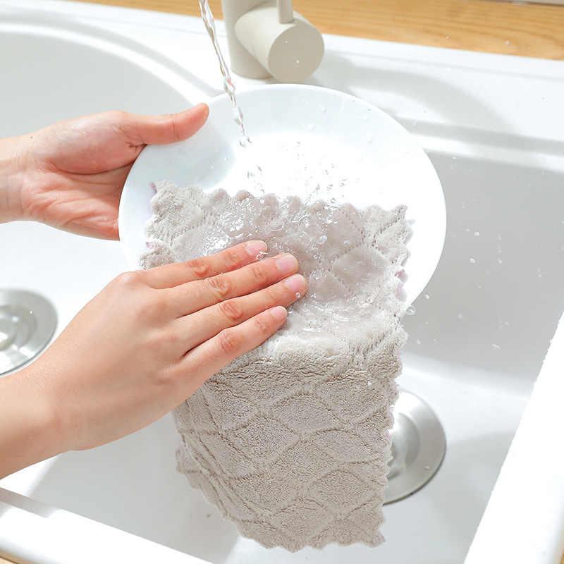 Wasser Saugfähigen Geschirrtuch Verdickt Tücher Mikrofaser Tischdecke Küche Zubehör Werkzeuge Handtuch Reinigung Tuch