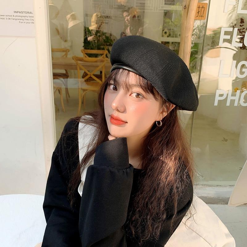 Summer Fashion Beret Hat Women Flat Cap Hats Lady Girl Berets Hat Bone Female Franch Style 90 S Girls Painter Hat