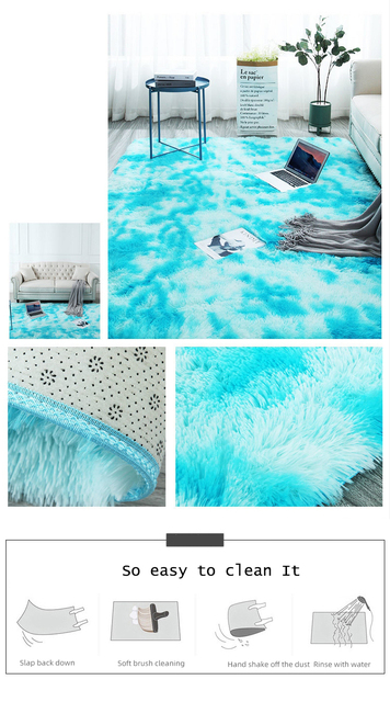 Fluffy round rug carpets for living room decor faux fur rugs