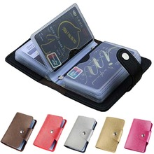 24 Card Slots Business Holder PU Leather Name Wallet Case w/Magnetic Shut Credit ID Passport