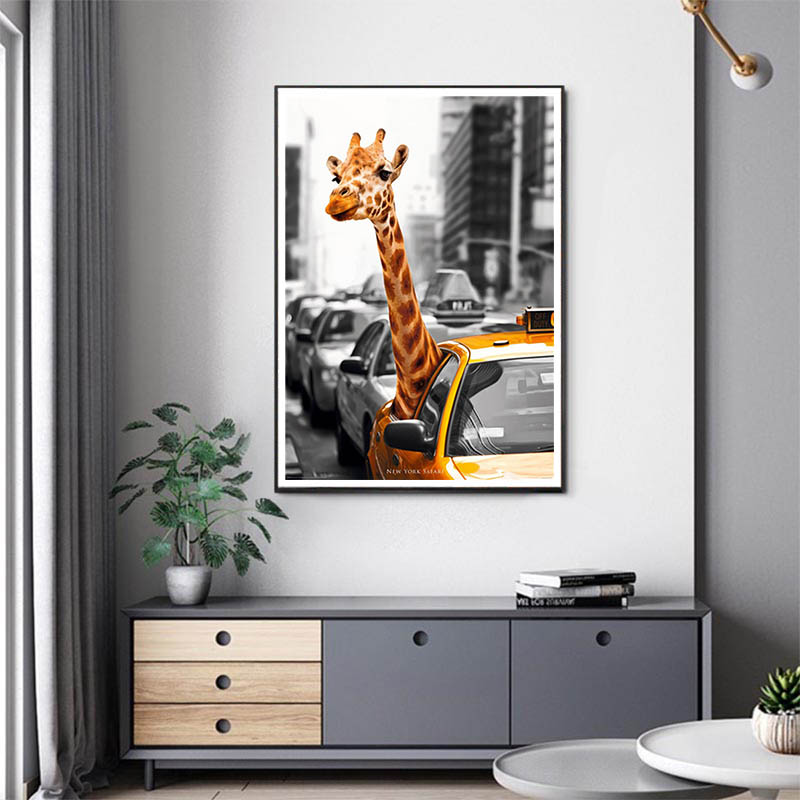 5D Diy Diamond Painting Cross Stitch Embroidery Round Diamond Mosaic Horse Giraffe Zebra Picture Kits Wall Sticker Home Decor in Diamond Painting Cross Stitch from Home Garden