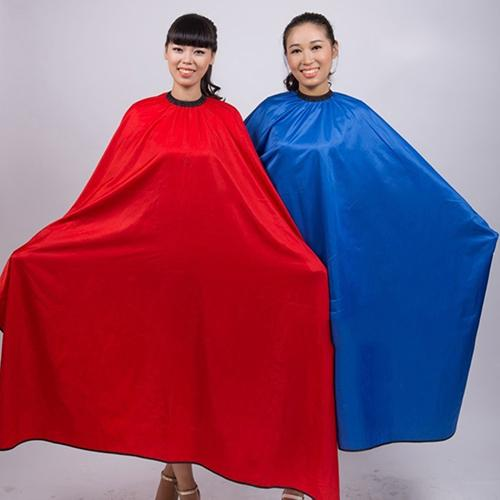 Men's Women's Professional Salon Barbers Hairdresser Hair Cutting Waterproof Cloth Gown Cape Haircut Capes Random Color Blue Red