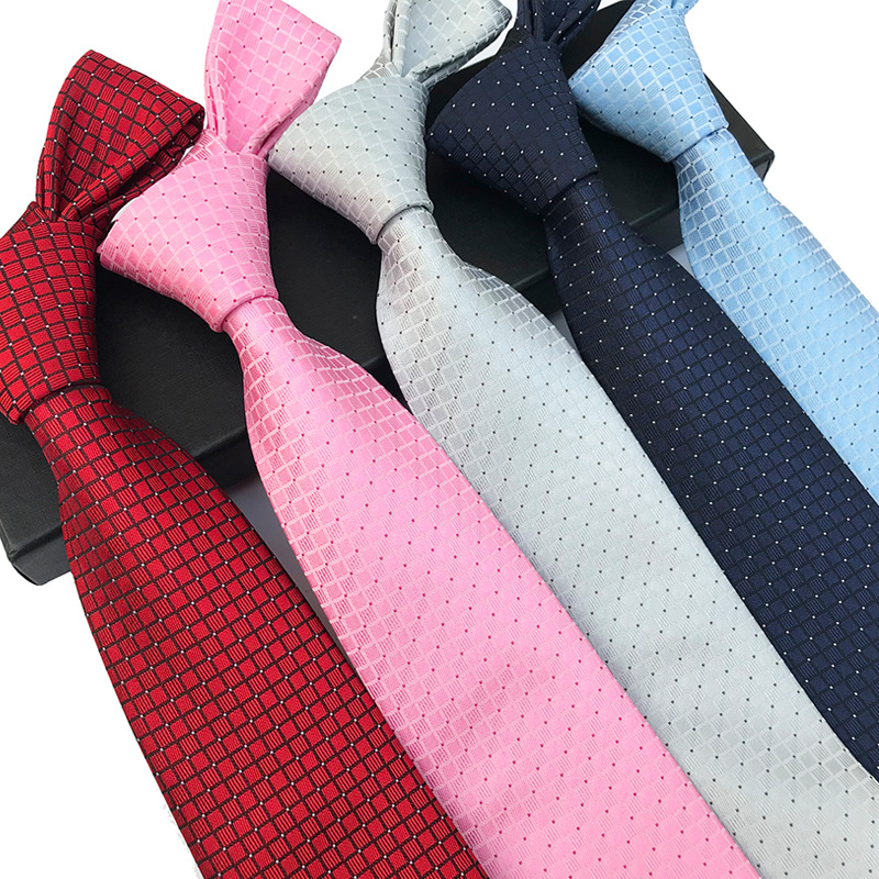 YISHLINE New 8CM Mens Tie Silk Ties Solid Dots Men Wedding Ties Man Bridegroom Necktie Self-tied Arrow Autumn Winter 20 Styles