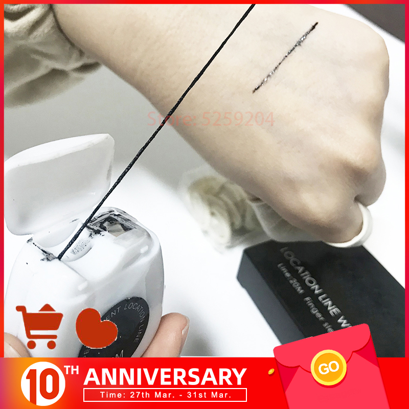 New Microblading Brow MAPPING STRING Pre-Inked Marker Thread  20m Tattoo PMU Brows Point Locktion Line For Semi-Permanent Makeup