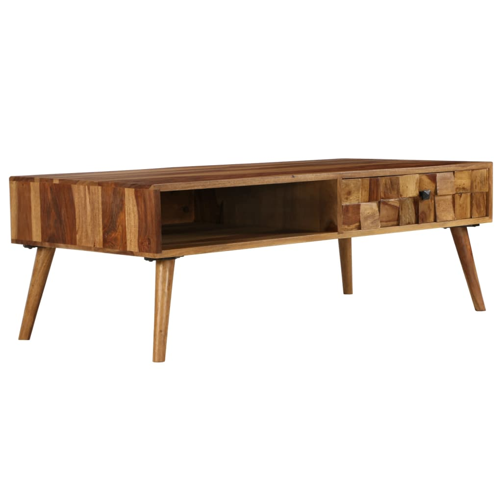 VidaXL Coffee Table Solid Sheesham Wood With Honey Finish 110x50x37 Cm
