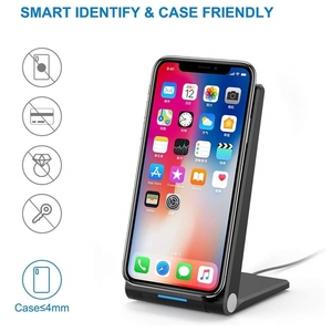 Image 5 - DCAE 15W Qi Wireless Charger Stand PadสำหรับiPhone 12 11 Pro X XS Max XR 8 10W fast Charging Dock StationสำหรับSamsung S20 S10 S9