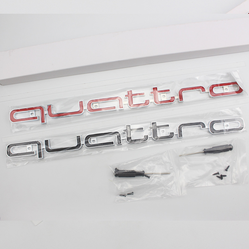 1pcs For <font><b>Audi</b></font> Quattro a3 <font><b>a4</b></font> a5 a6 s4 s5 s6 s7 c5 c6 <font><b>b7</b></font> b8 b6 q3 q5 car front <font><b>grille</b></font> badge labeling car in the net car styling image