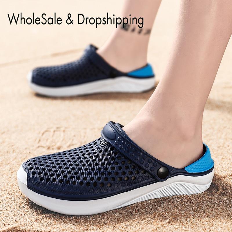 Sandales de plage unisexes, pantoufles à semelle épaisse, imperméables, antidérapantes, tongs pour femmes et hommes