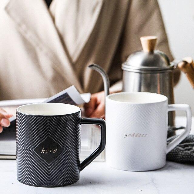 Фото черно белая кофейная кружка или чайная чашка для свадебного цена