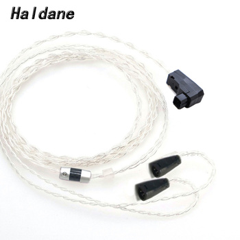 Haldane HIFI RSA/ALO Balanced 7N OCC Silver Plated Headphone Upgrade Replacement Cable for IE8 IE8i IE80 IE80s Headphones 1.2m
