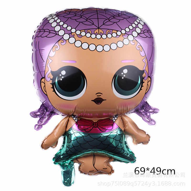 ¡Nuevo! Globo de figura de 18 pulgadas de LOL, juguetes para fiesta, globos de aluminio, juguetes para niñas, regalo de cumpleaños