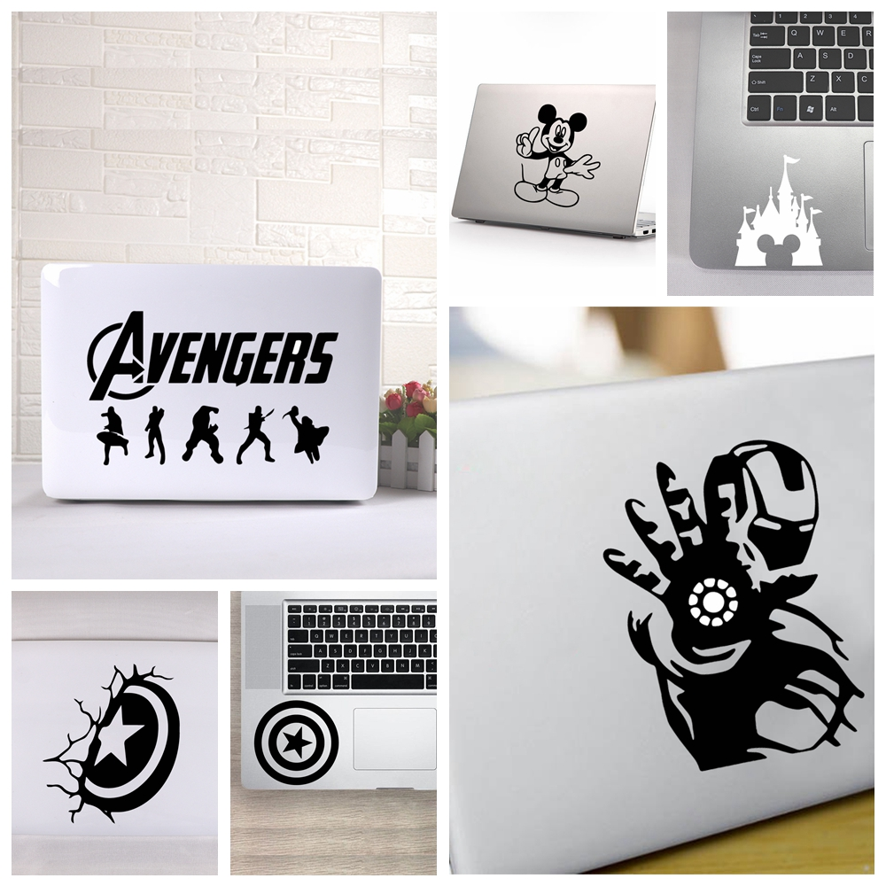Hot Sale Mickey /Avengers Captain Americacomputer Skins Black Notebook Decal Laptop Sticker Vinyl Stickers Tablet Surface Skin image