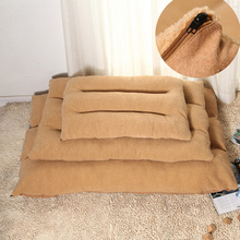 Comfortable and warm Pet Kennel plush short small medium  large dog bed removable pet litter pad thickening increase