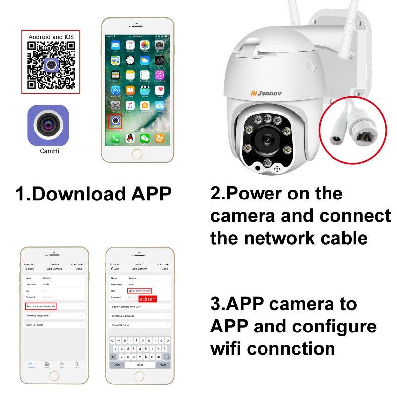 Einnov Wifi IP Camera Wireless Security Camera Outdoor 1080P HD Surveillance Camara Audio Onvif 2MP IR Einnov Wifi IP Camera Wireless Security Camera Outdoor 1080P HD Surveillance Camara Audio Onvif 2MP IR Night Vision P2P Yoosee