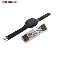 سوار معصم بلوتوث محمول UHF RFID قصير المدى للكمبيوتر/Android/ISO ، اتصال BLE4.0