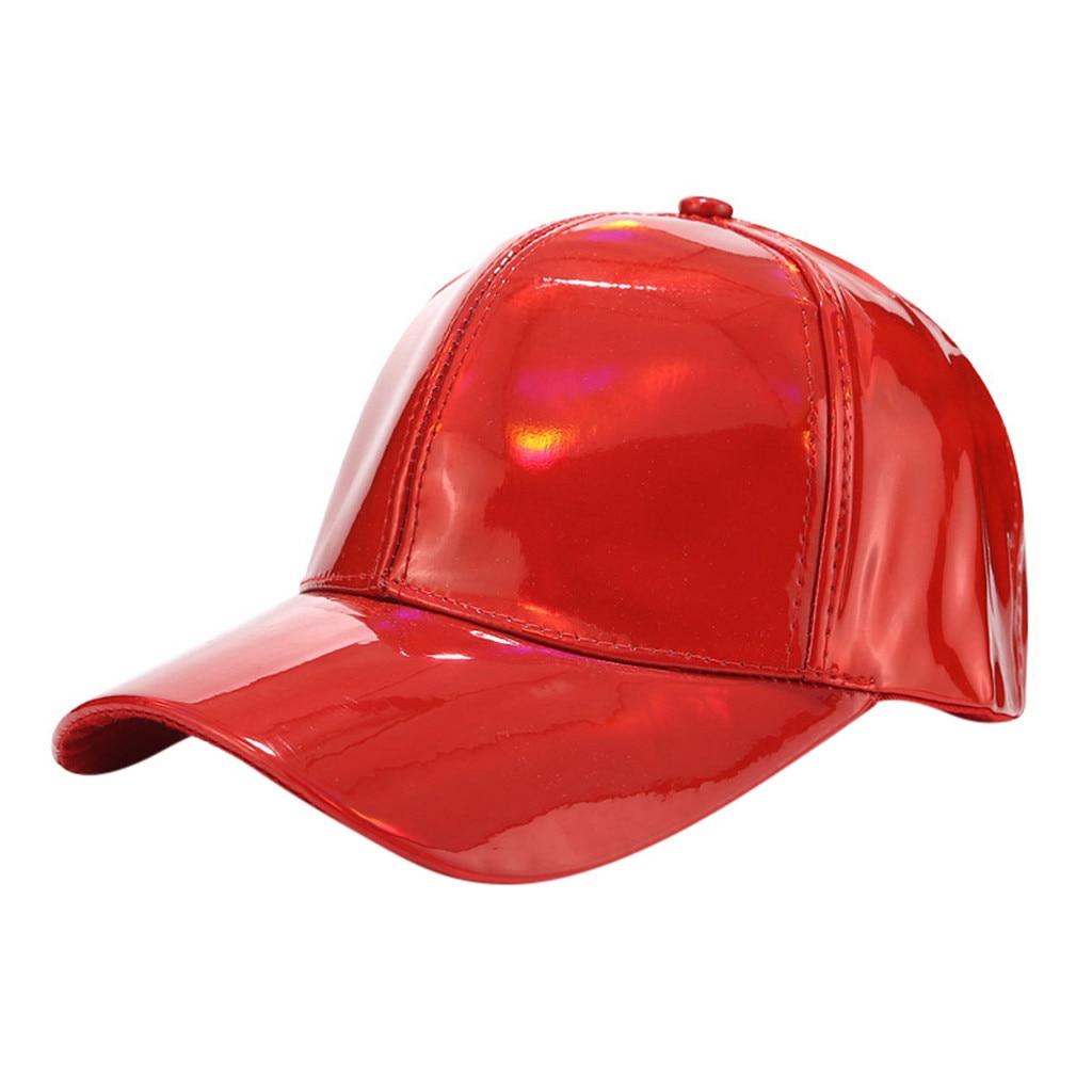 SAGACE Men And Women Light Version Laser Baseball Cap Street Trend PU Cap Sunscreen Sun Hat Multiple Colour 2019 TrendFASHON