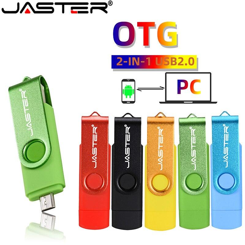 JASTER USB 2.0 OTG Flash Drive Stick Multi-function Pen Drive Smartphone Otg Usb Flash Drive 32Gb 64Gb Pen Drive 64Gb