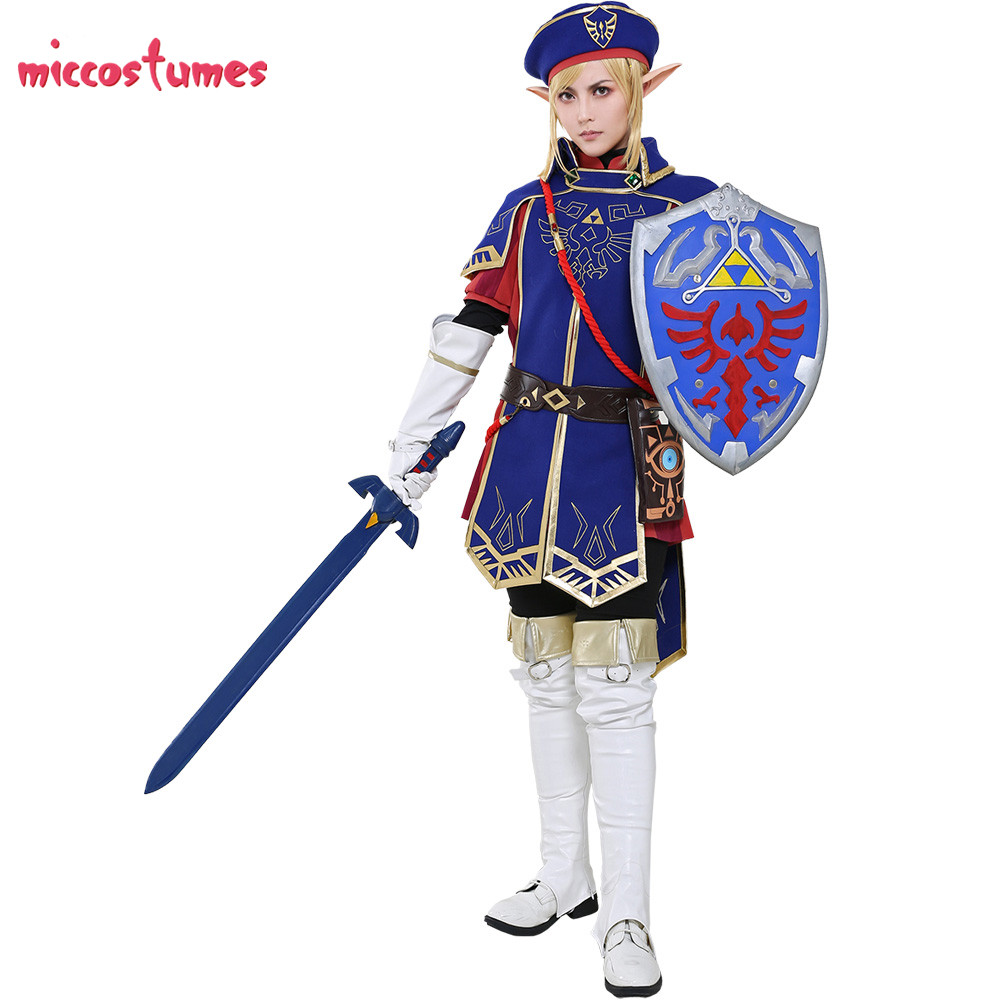 Us 97 99 Royal Guard Uniform Botw Link Cosplay The Legend Of Zelda Breath Of The Wild Costume Set On Aliexpress