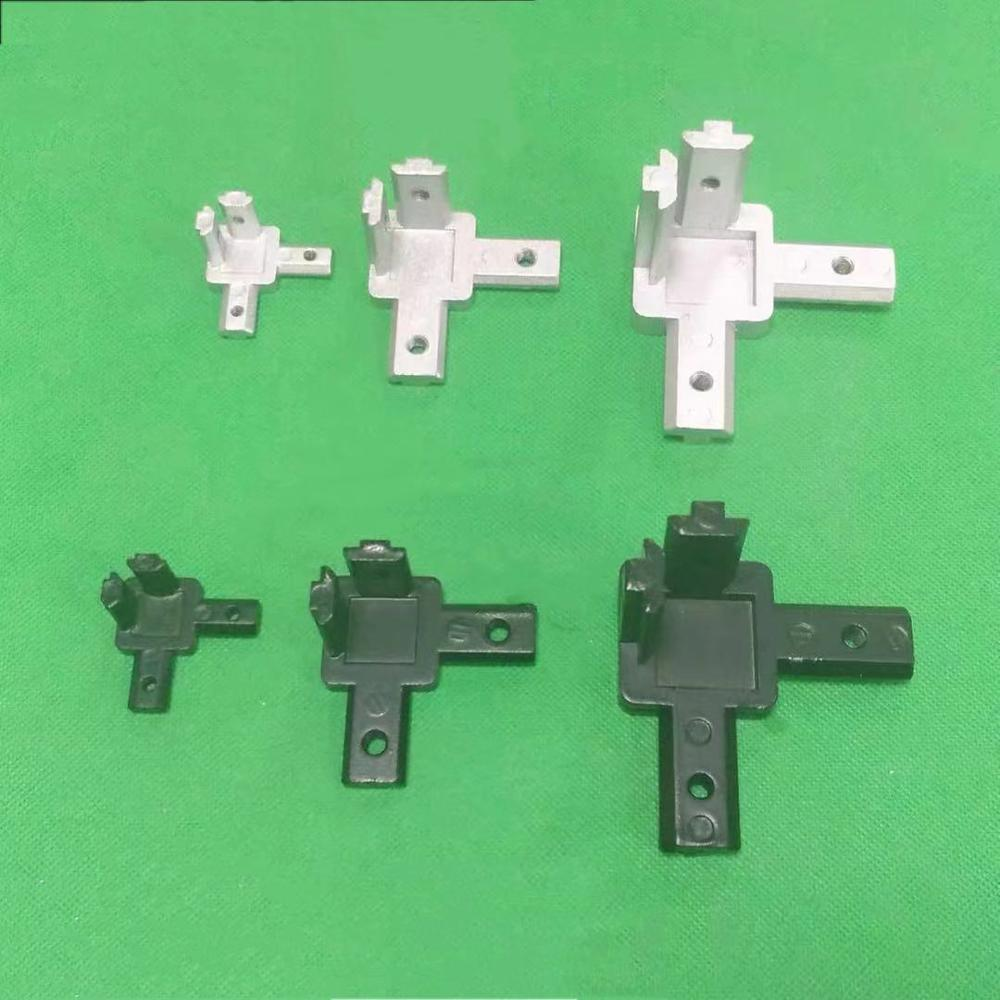 L Type Three Dimensional  2020 3030 4040 Concealed 3-Way Corner Connector For Aluminum Extrusion Profiles,4Pcs Screws Included