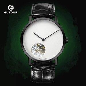 Eutour механические Автоматические роскошные часы с скелетом для мужчин s минималистичные мужские часы наручные часы дизайнерские для мальчи...