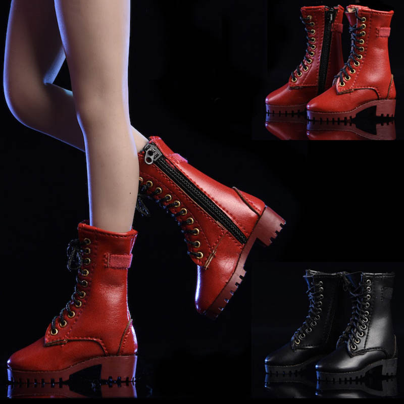 "Fire Girl Toys 1//6 Scale FG009 High Boots Red for 12/"" Female Action Figure"