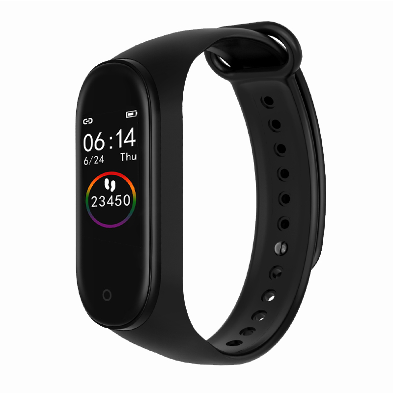 <font><b>M4</b></font> <font><b>Smart</b></font> <font><b>watch</b></font> Women <font><b>Smart</b></font> <font><b>watch</b></font> Waterproof Blood oxygen Heart rate monitor Men sport smartwatch for IOS and Android image