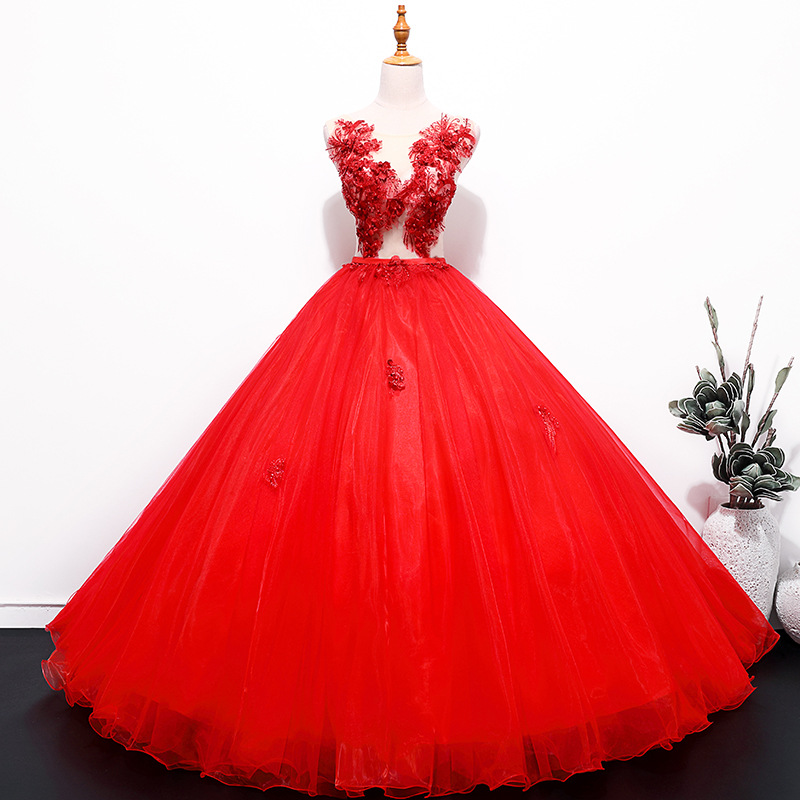 Quinceanera Dress 2019 New The Red Prom Ball Gown Elegant Quinceanera Dresses Vestidos De 15 Anos Vestidos De