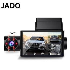 JADO Auto Dash Cam HD1080P Car Dvr Dash Camera 3 Cameras Night Vision Dashcam 24H Parking Monitor Vehicle Video Recorder
