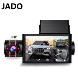 JADO D350S fahren recorder Vordere und hintere 1080P nachtsicht HD drei-rekord wifi verbindung 360 ° panorama 24 stunden überwachung