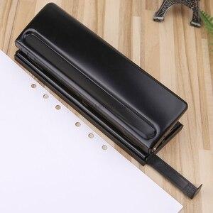 Image 4 - 6 delik yumruk kağıt zanaat kesici ayarlanabilir DIY A4 A5 A6 gevşek yapraklı kağıt Puncher Scrapbooking kırtasiye ofis malzemeleri
