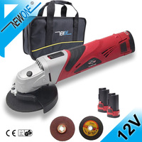 HEPHAESTUS 12V 2A Cordless Angle Grinder M10 Grinding Machine Polisher Cutting Soft Metal Wood Electric DC Power Tool